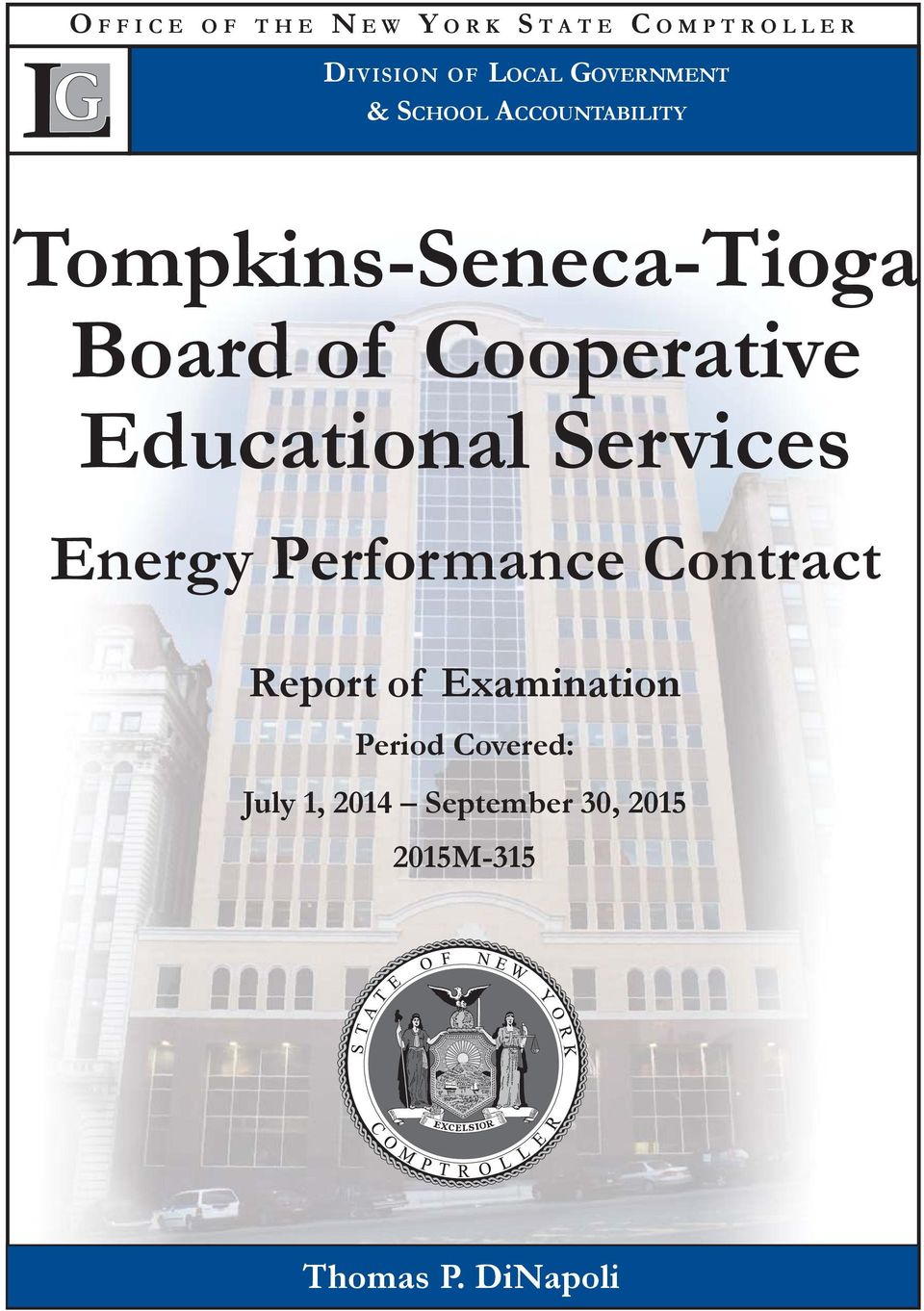 Educational Services Energy Performance Contract Report of Examination