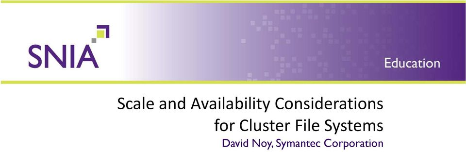Cluster File Systems
