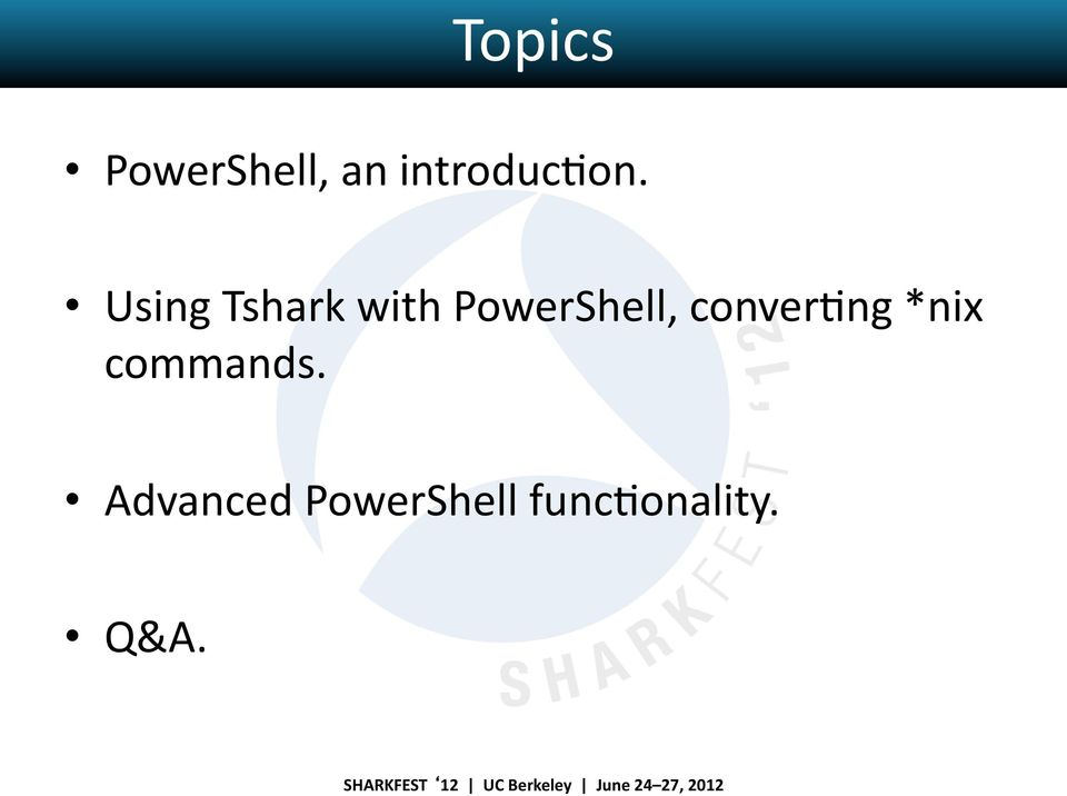 Using Tshark with PowerShell,