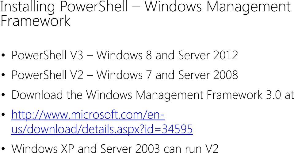 Download the Windows Management Framework 3.0 at http://www.microsoft.