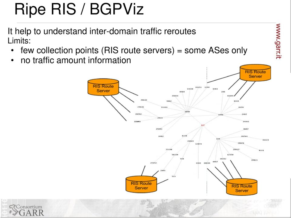 collection points (RIS route servers) =