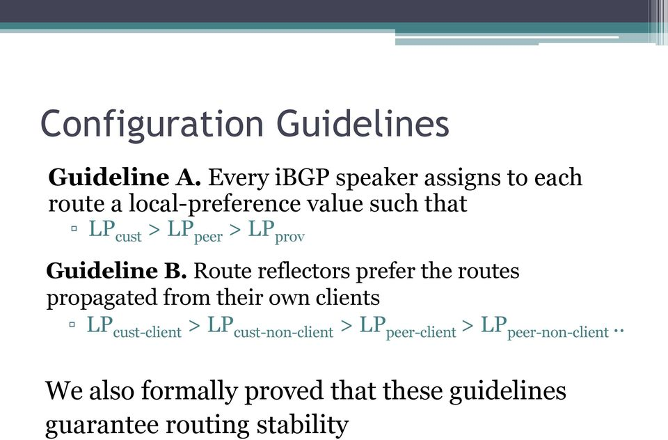 > LP prov Guideline B.