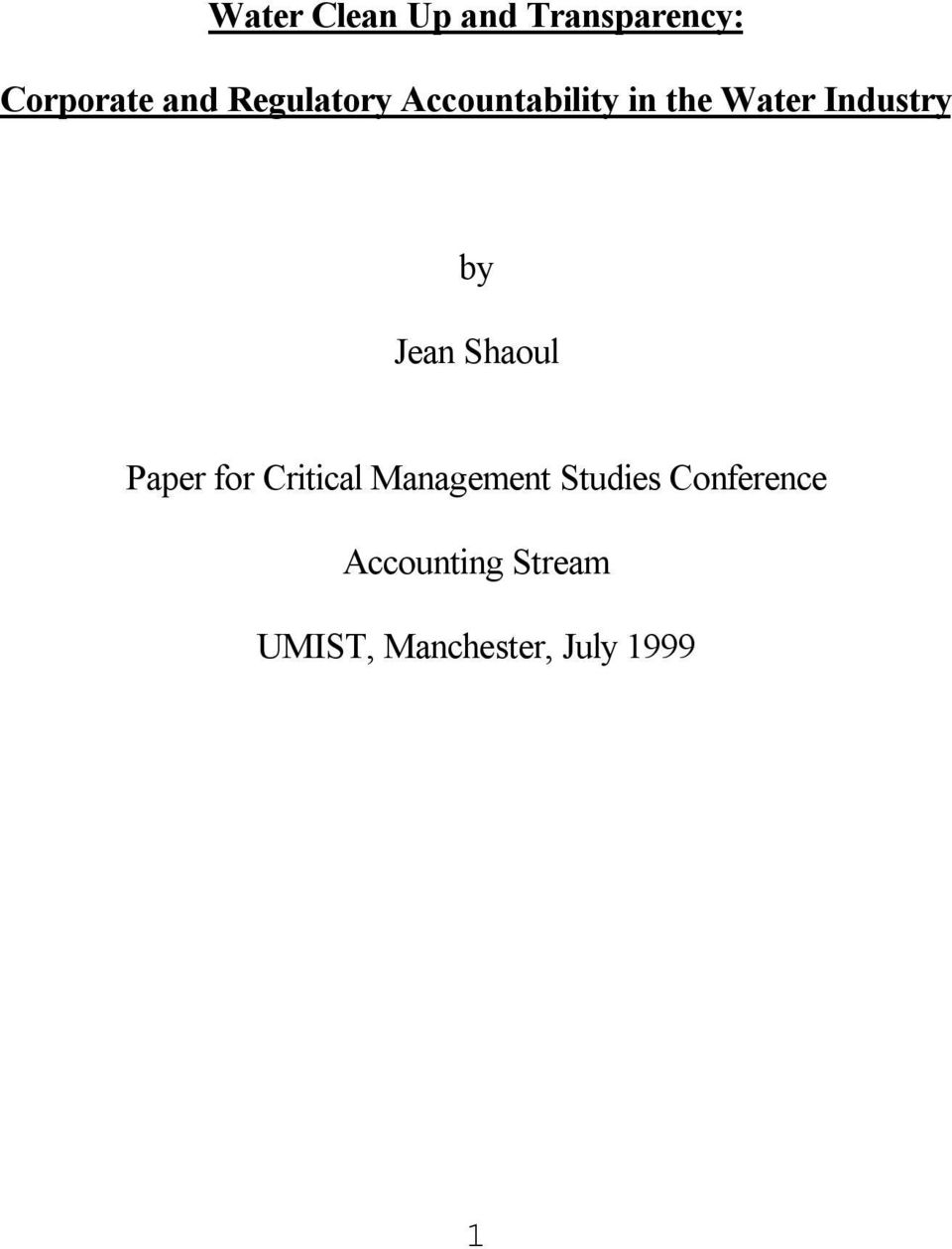 Jean Shaoul Paper for Critical Management Studies