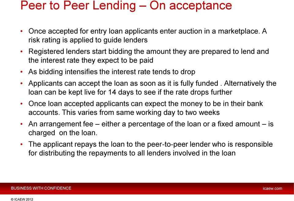 tends to drop Applicants can accept the loan as soon as it is fully funded.