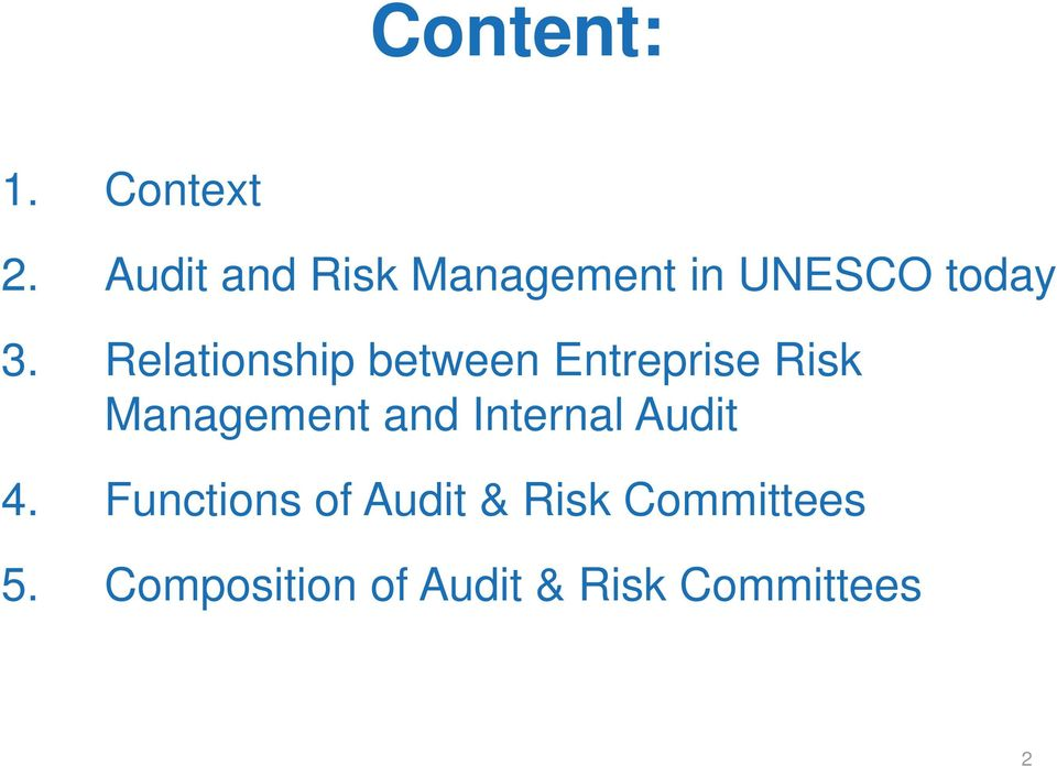 Relationship between Entreprise Risk Management and