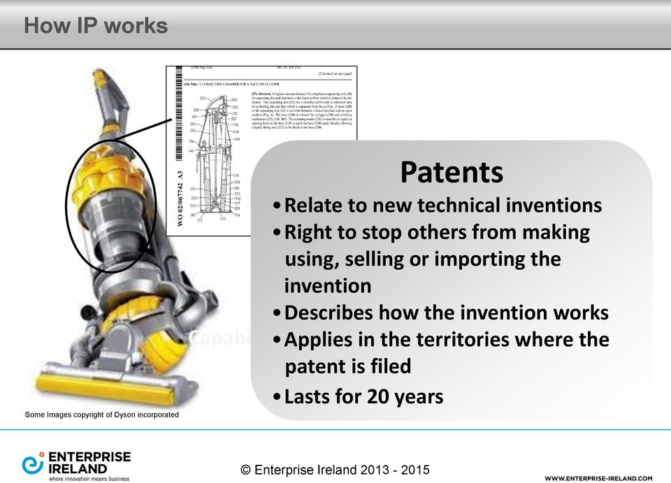 importing the invention Describes how the invention works Capability Applies