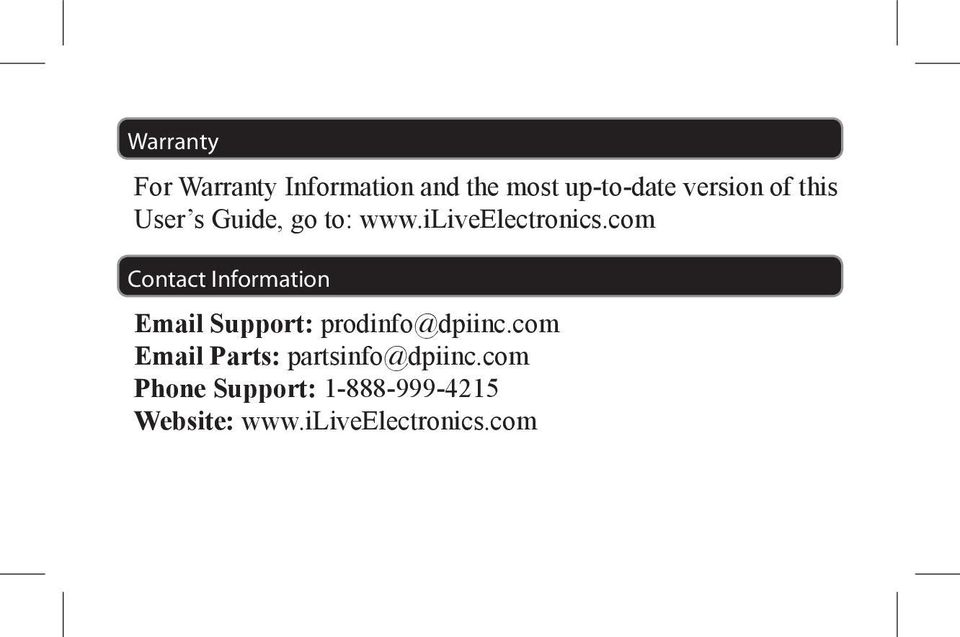 com Contact Information Email Support: prodinfo@dpiinc.