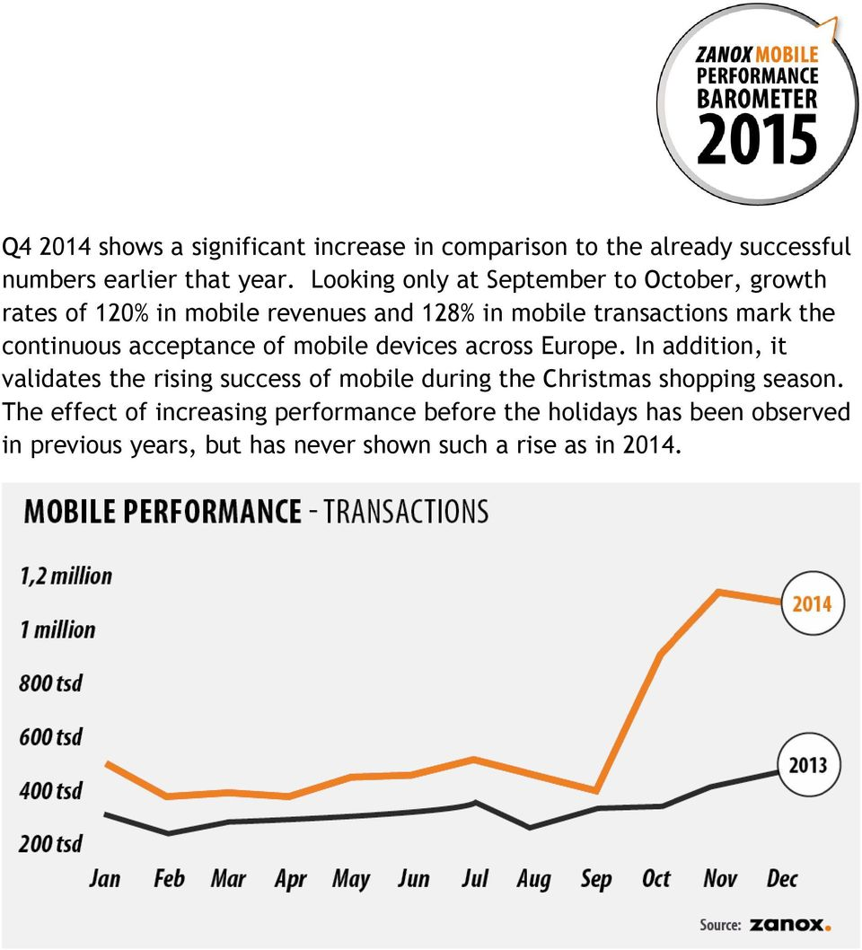 continuous acceptance of mobile devices across Europe.