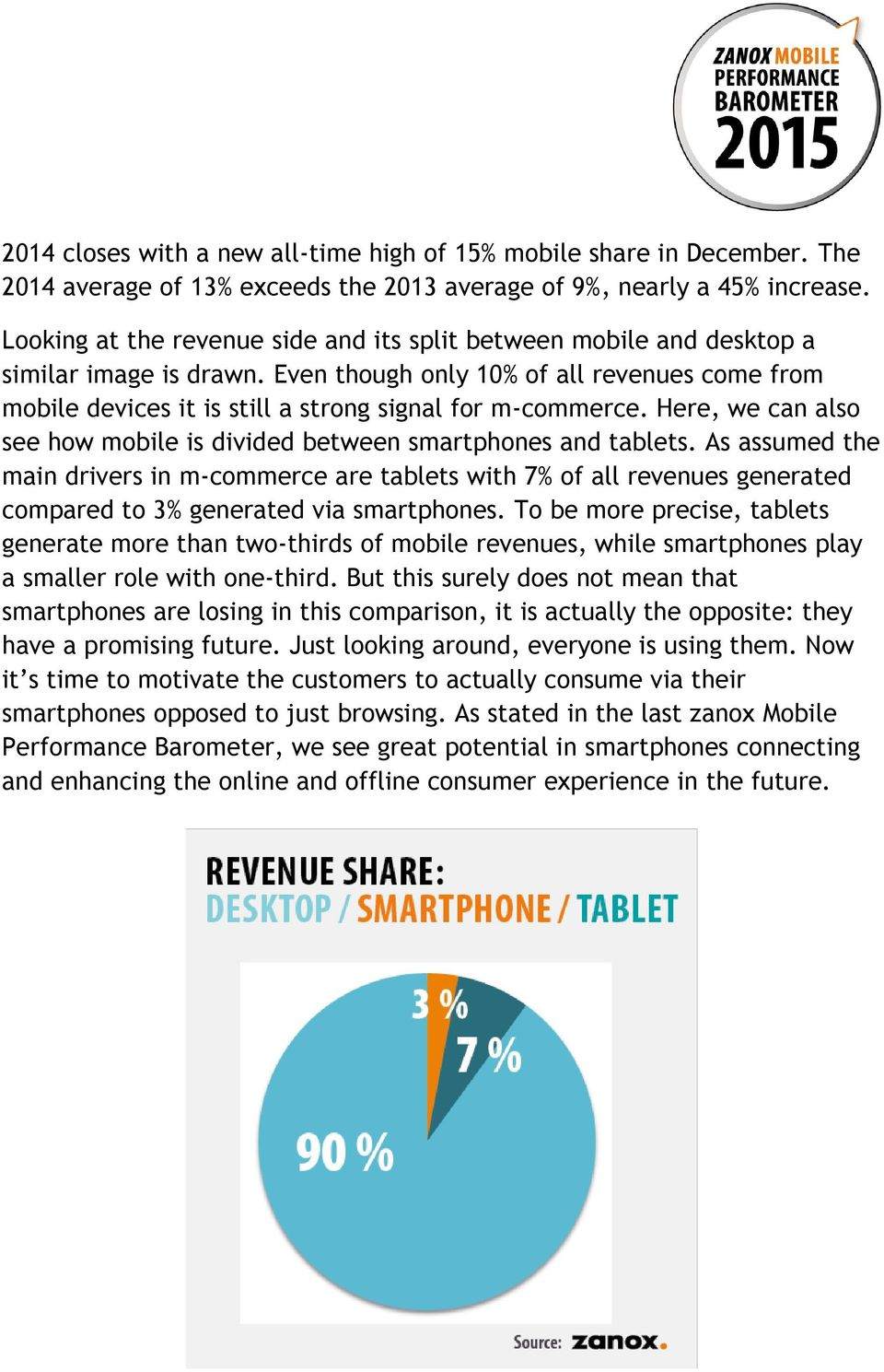 Here, we can also see how mobile is divided between smartphones and tablets.