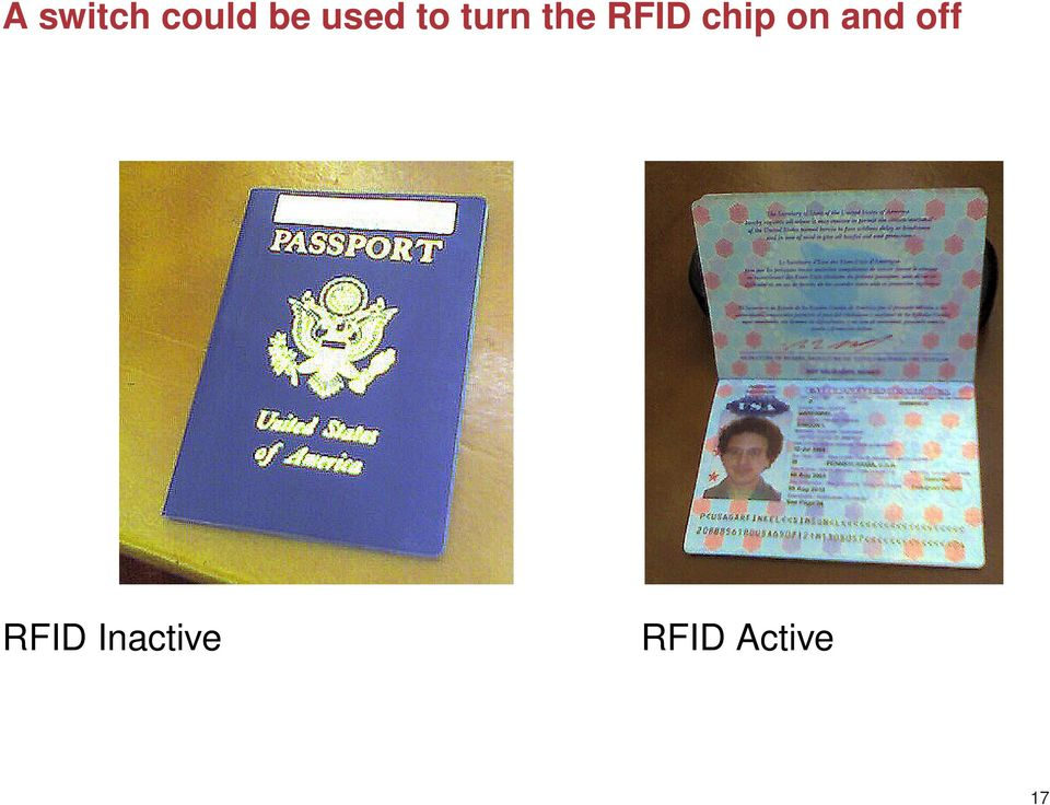 RFID chip on and off