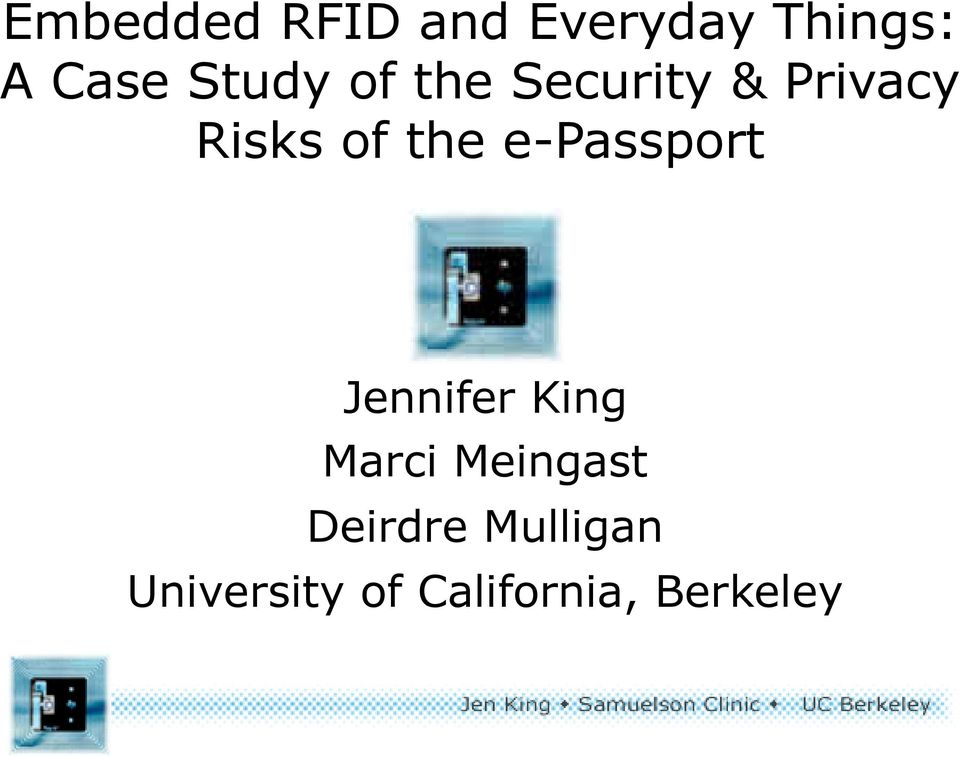 e-passport Jennifer King Marci Meingast