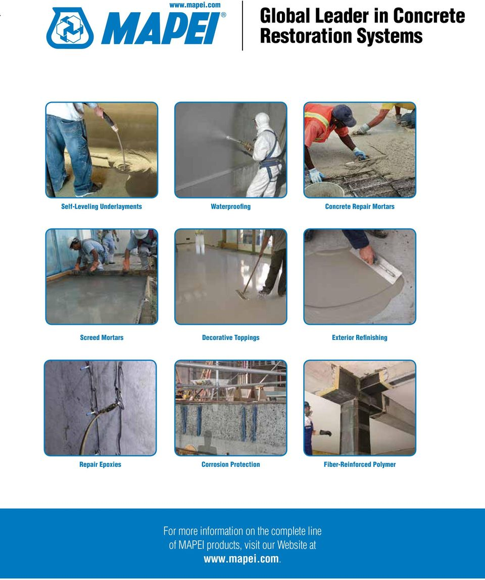 Refinishing Repair Epoxies Corrosion Protection Fiber-Reinforced Polymer For more