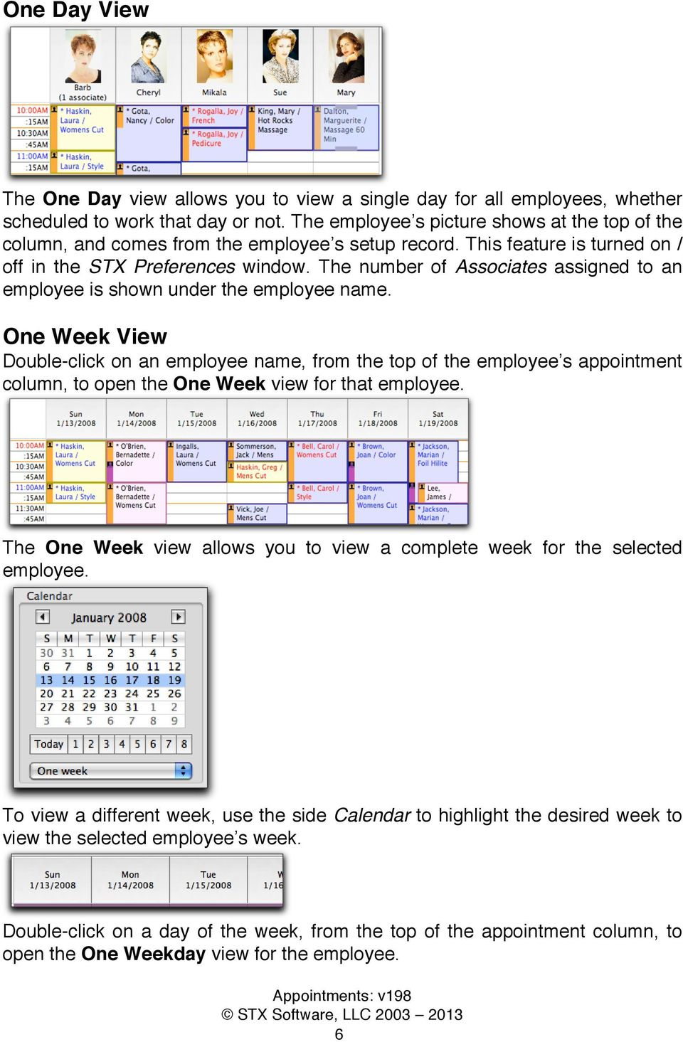 The number of Associates assigned to an employee is shown under the employee name.