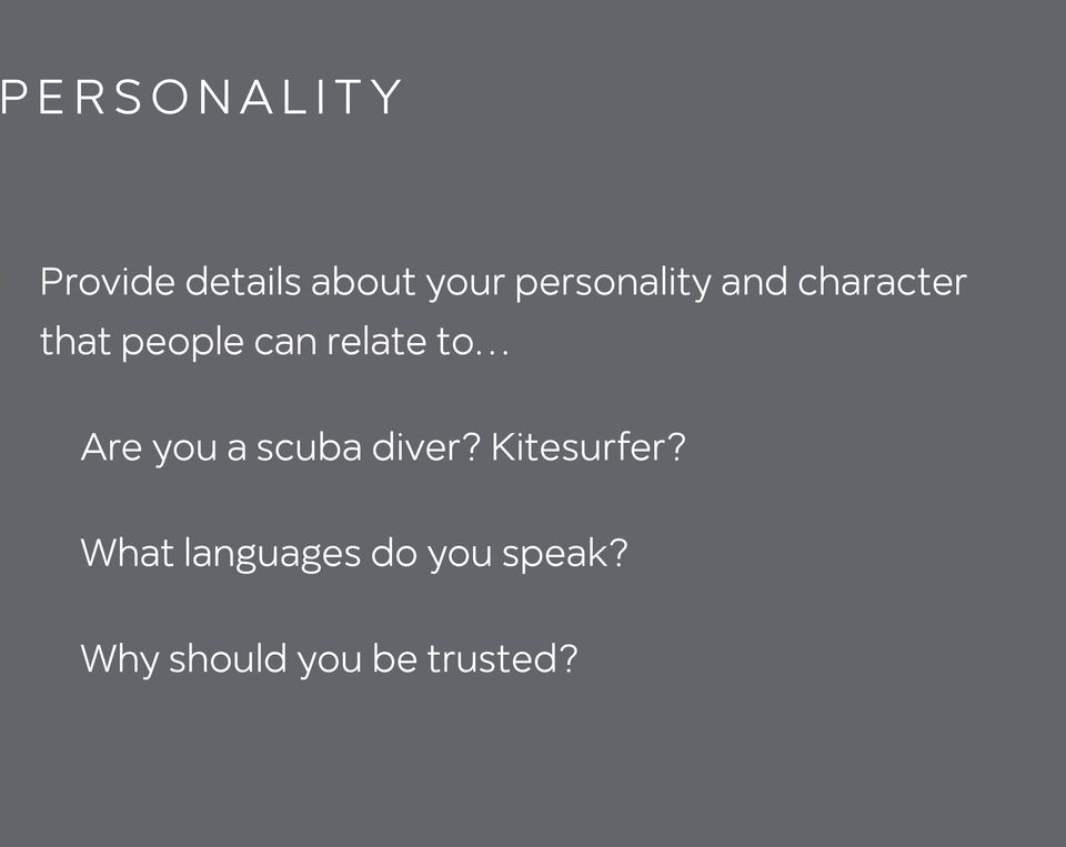 relate to Are you a scuba diver? Kitesurfer?