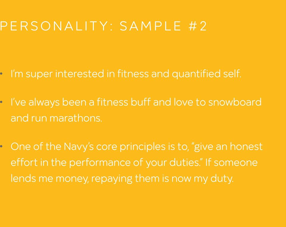 One of the Navy s core principles is to, give an honest effort in the