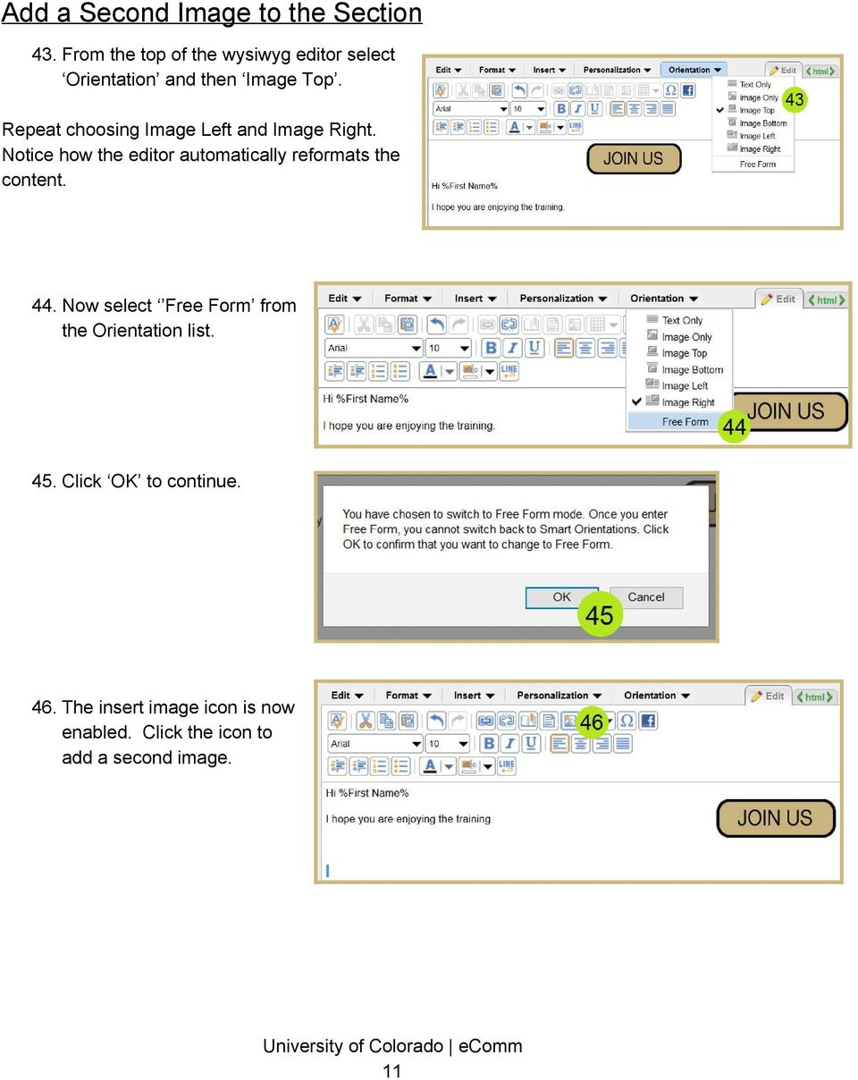 Repeat choosing Image Left and Image Right.