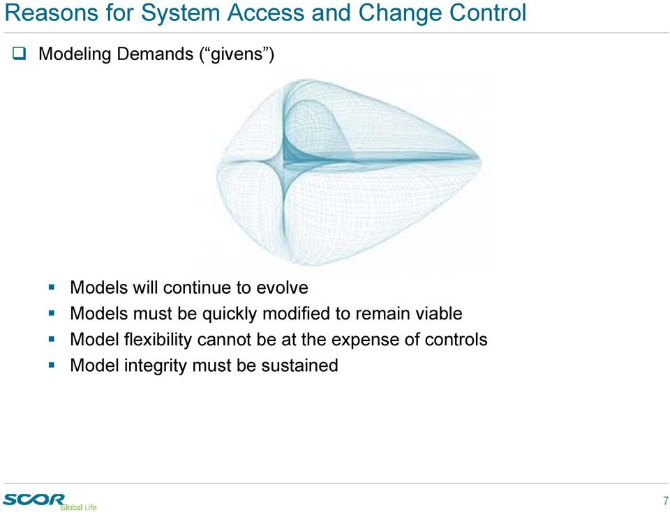 must be quickly modified to remain viable Model flexibility