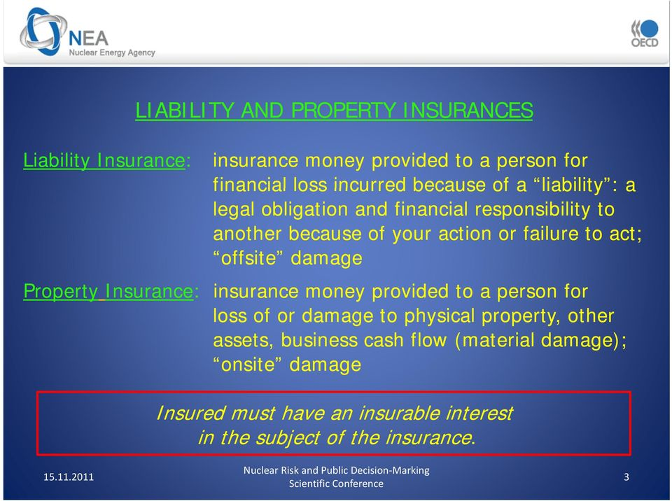 damage Property Insurance: insurance money provided to a person for loss of or damage to physical property, other assets,