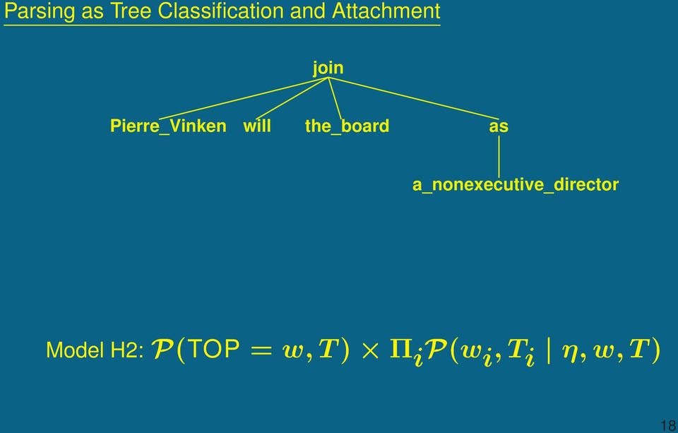 Classification and Attachment join