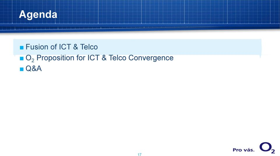 Proposition for ICT