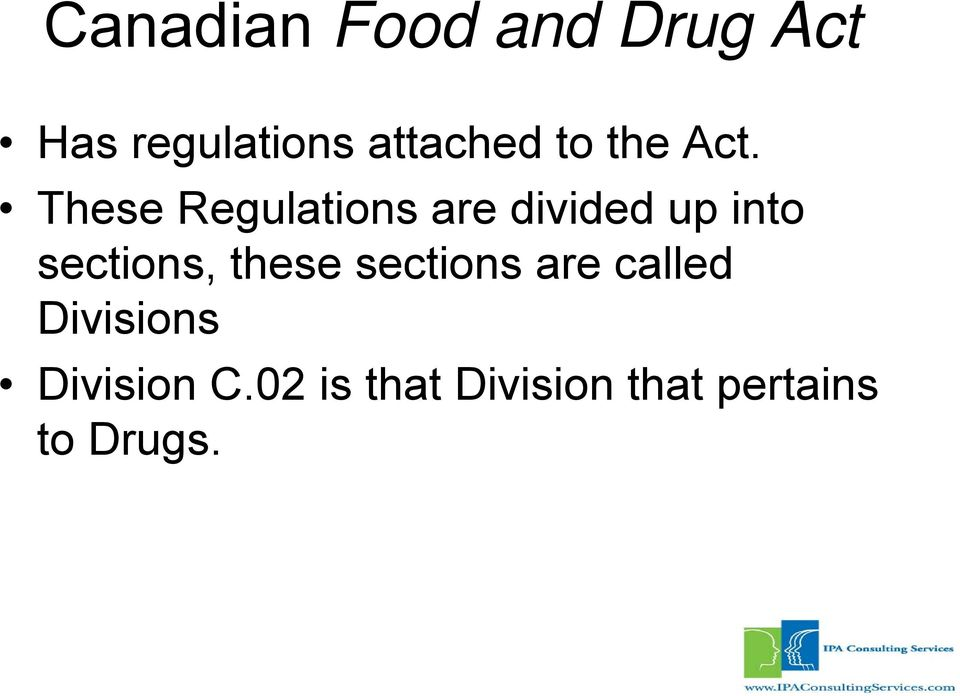 These Regulations are divided up into sections,