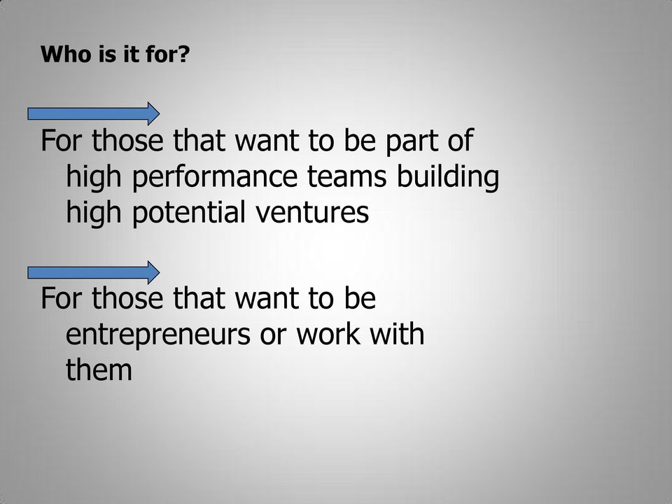 performance teams building high