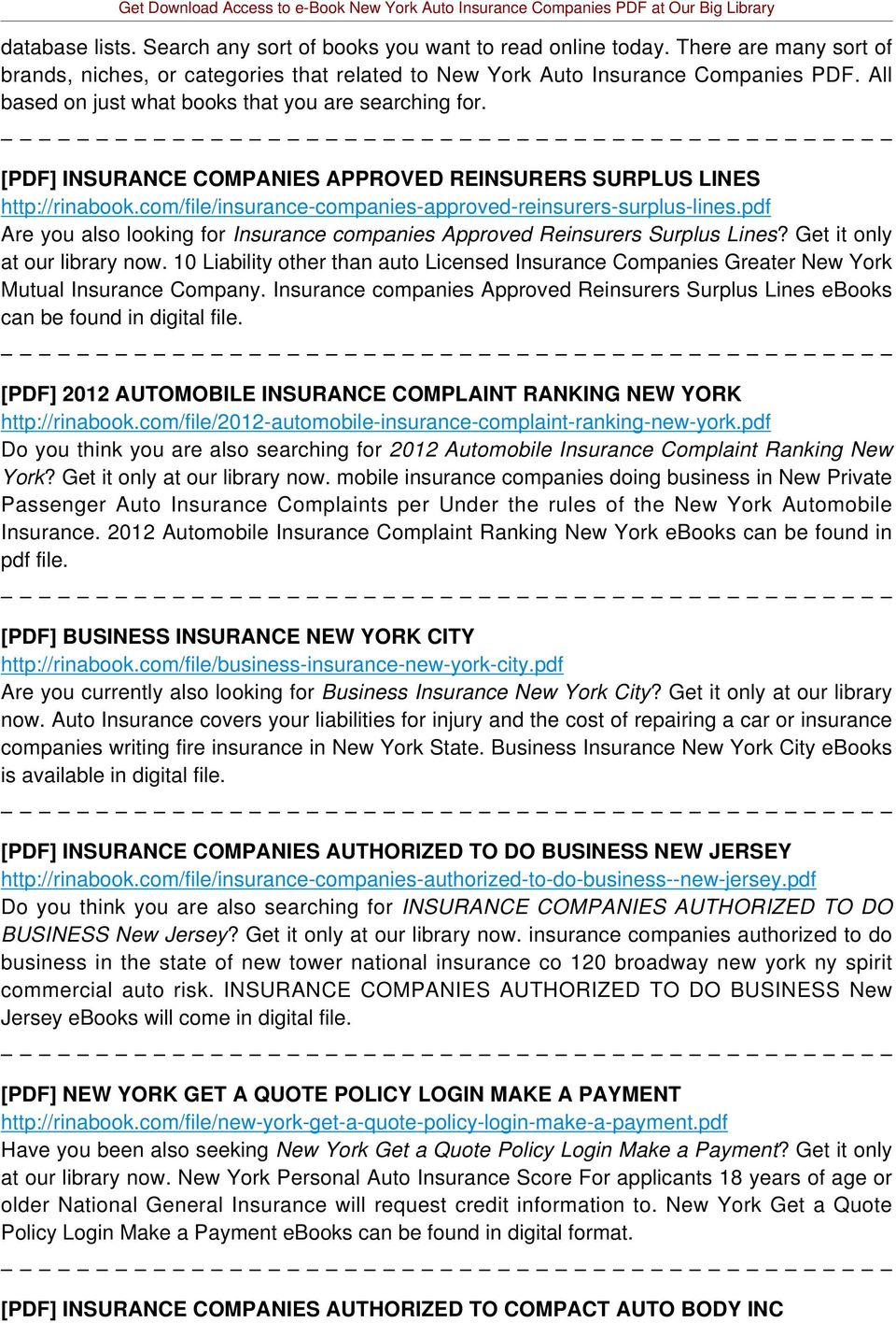 pdf Are you also looking for Insurance companies Approved Reinsurers Surplus Lines? Get it only at our library now.