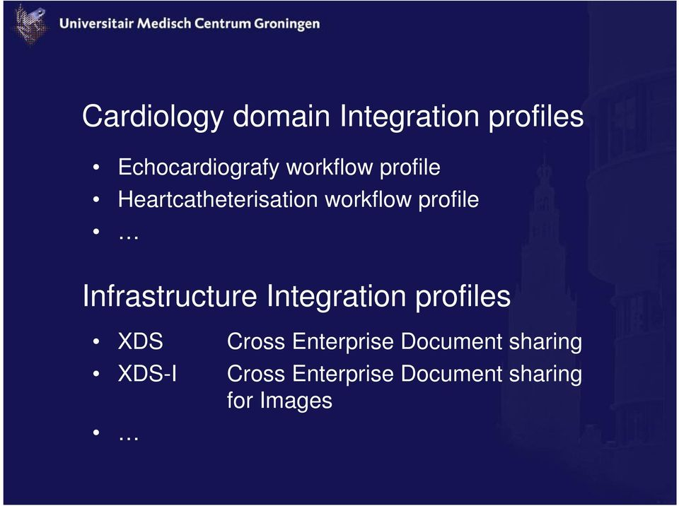 Infrastructure Integration profiles XDS XDS-I Cross
