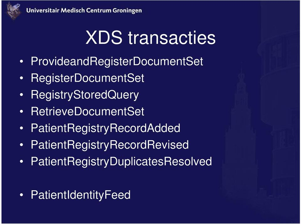 RetrieveDocumentSet PatientRegistryRecordAdded