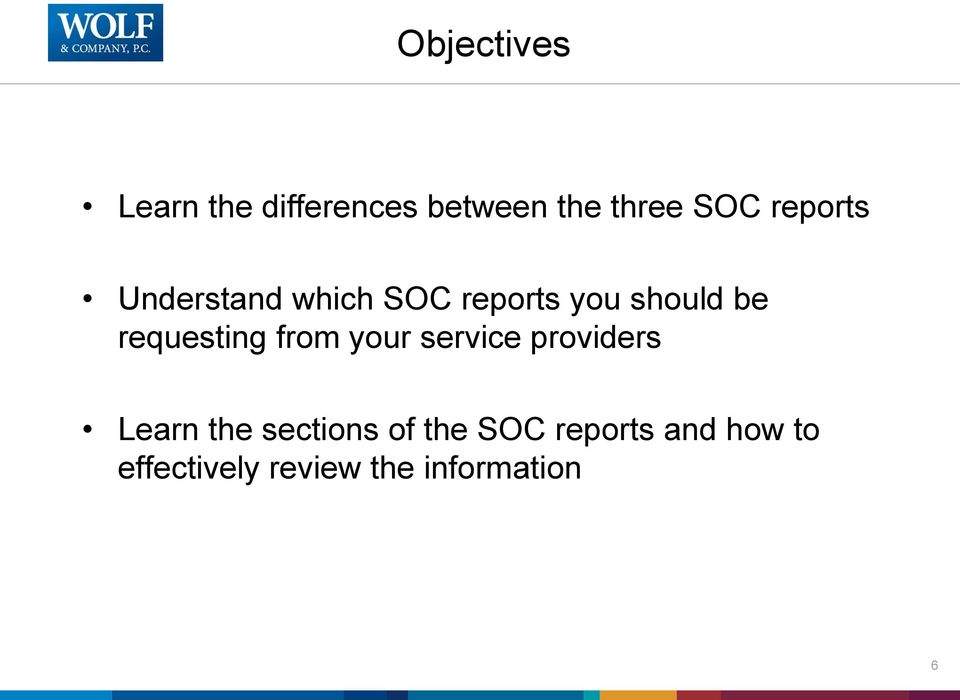 requesting from your service providers Learn the sections