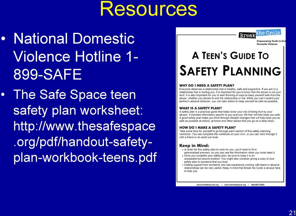 safety plan worksheet: http://www.