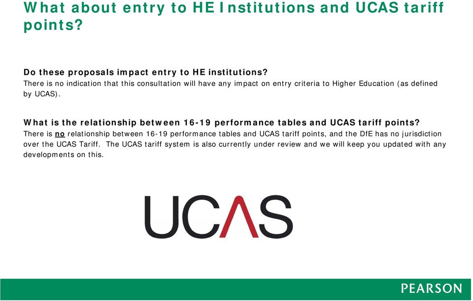 What is the relationship between 16-19 performance tables and UCAS tariff points?