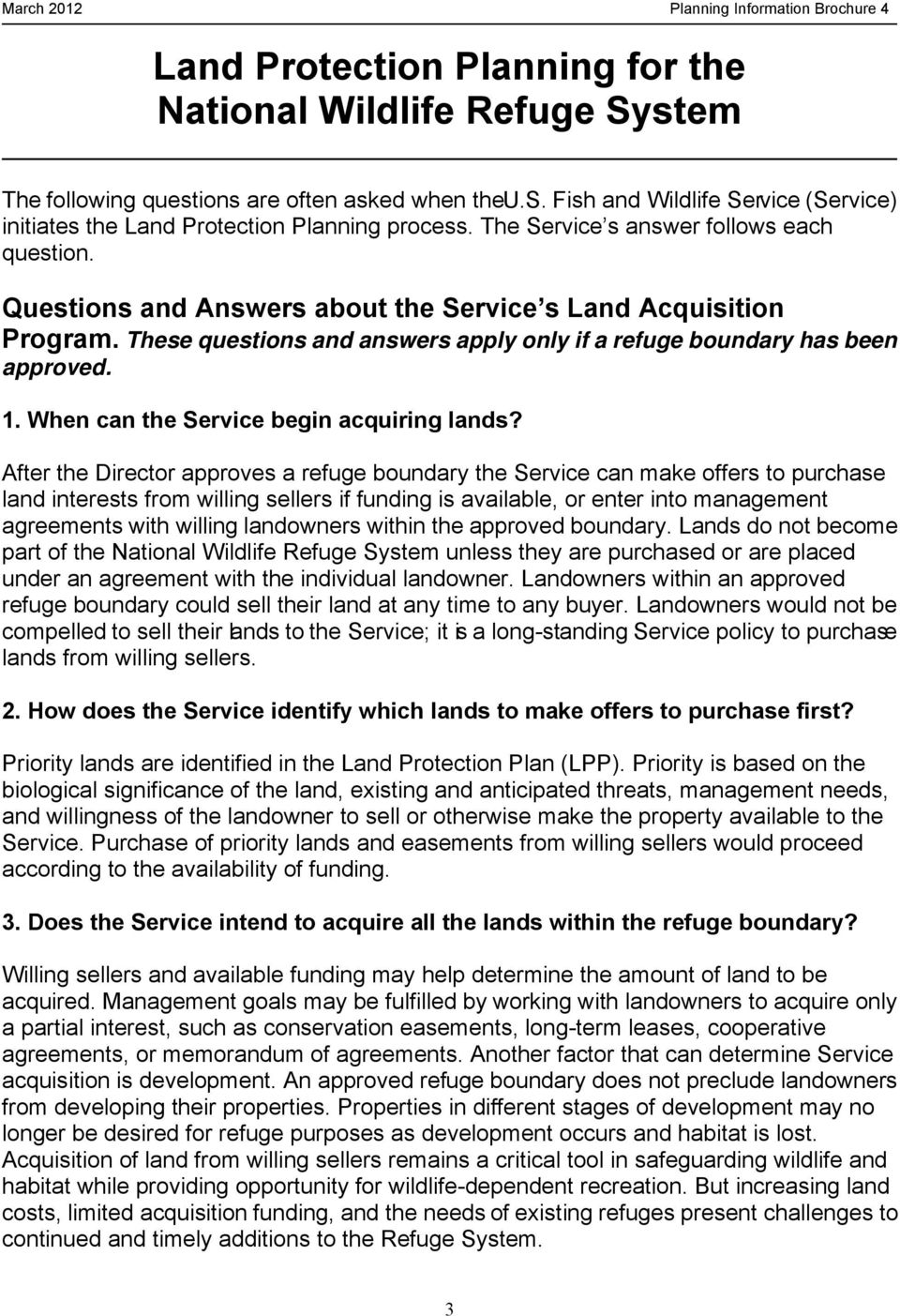 When can the Service begin acquiring lands?