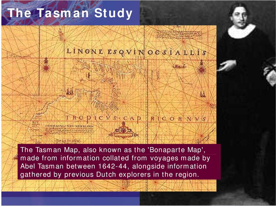voyages made by Abel Tasman between 1642-44, 44,