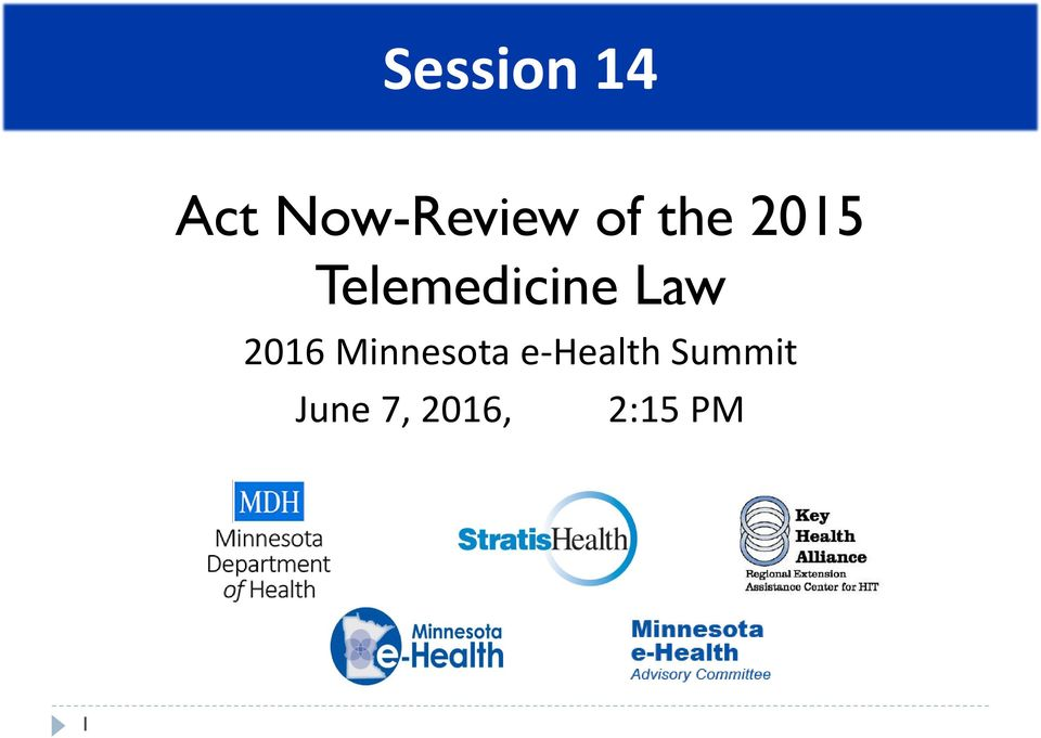 Law 2016 Minnesota e-health
