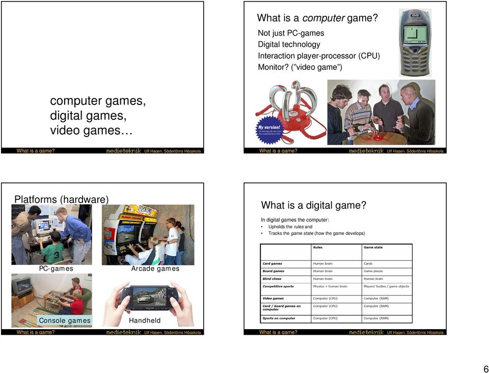 ( video game ) computer games, digital games, video games Platforms (hardware) What is a