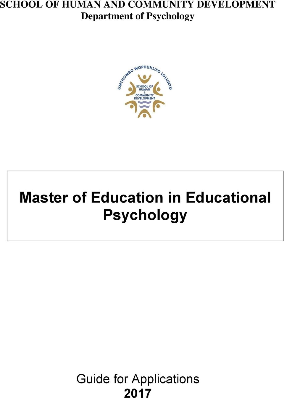 Psychology Master of Education in