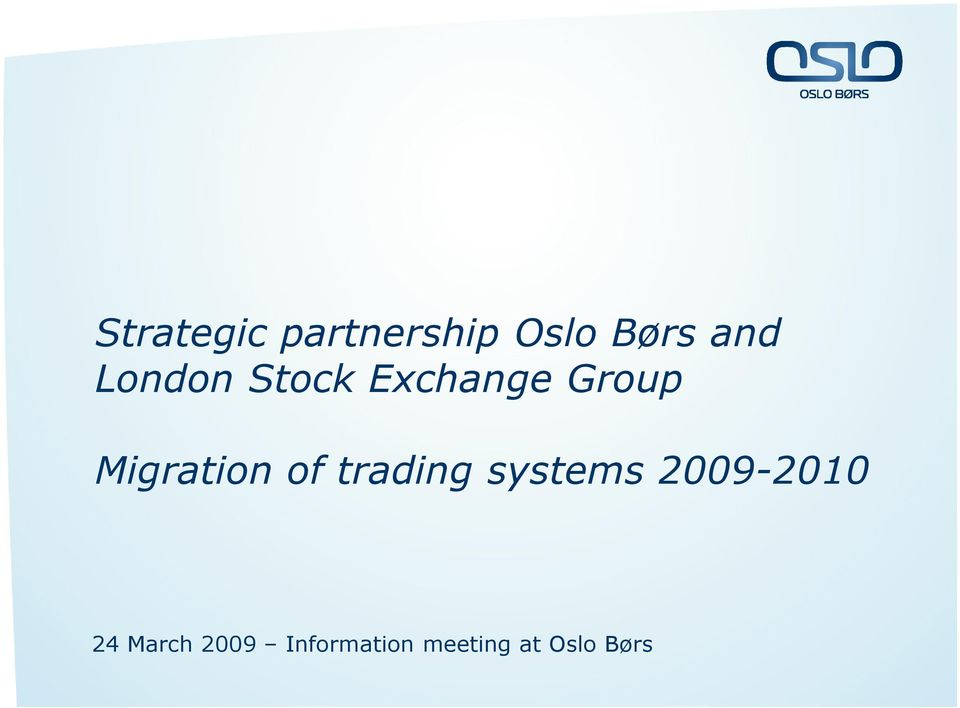 of trading systems 2009-2010 24 March