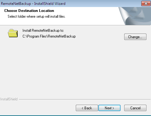 (4) When the installation is complete, configure the destination location for the