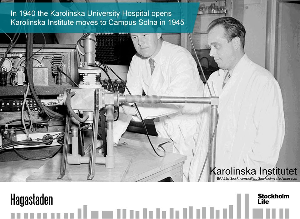 Solna in 1945 Karolinska Institutet Bild