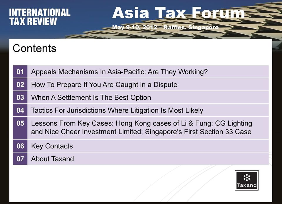 Tactics For Jurisdictions Where Litigation Is Most Likely 05 Lessons From Key Cases: Hong Kong