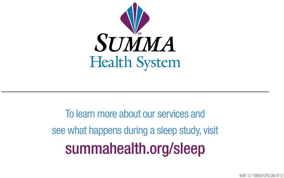 during a sleep study, visit