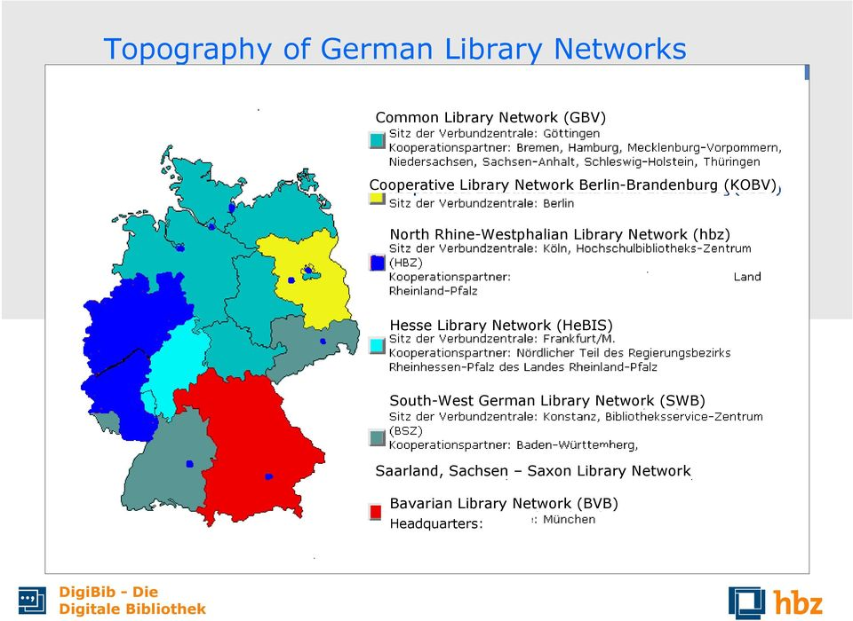 Network (hbz) Hesse Library Network (HeBIS) South-West German Library Network