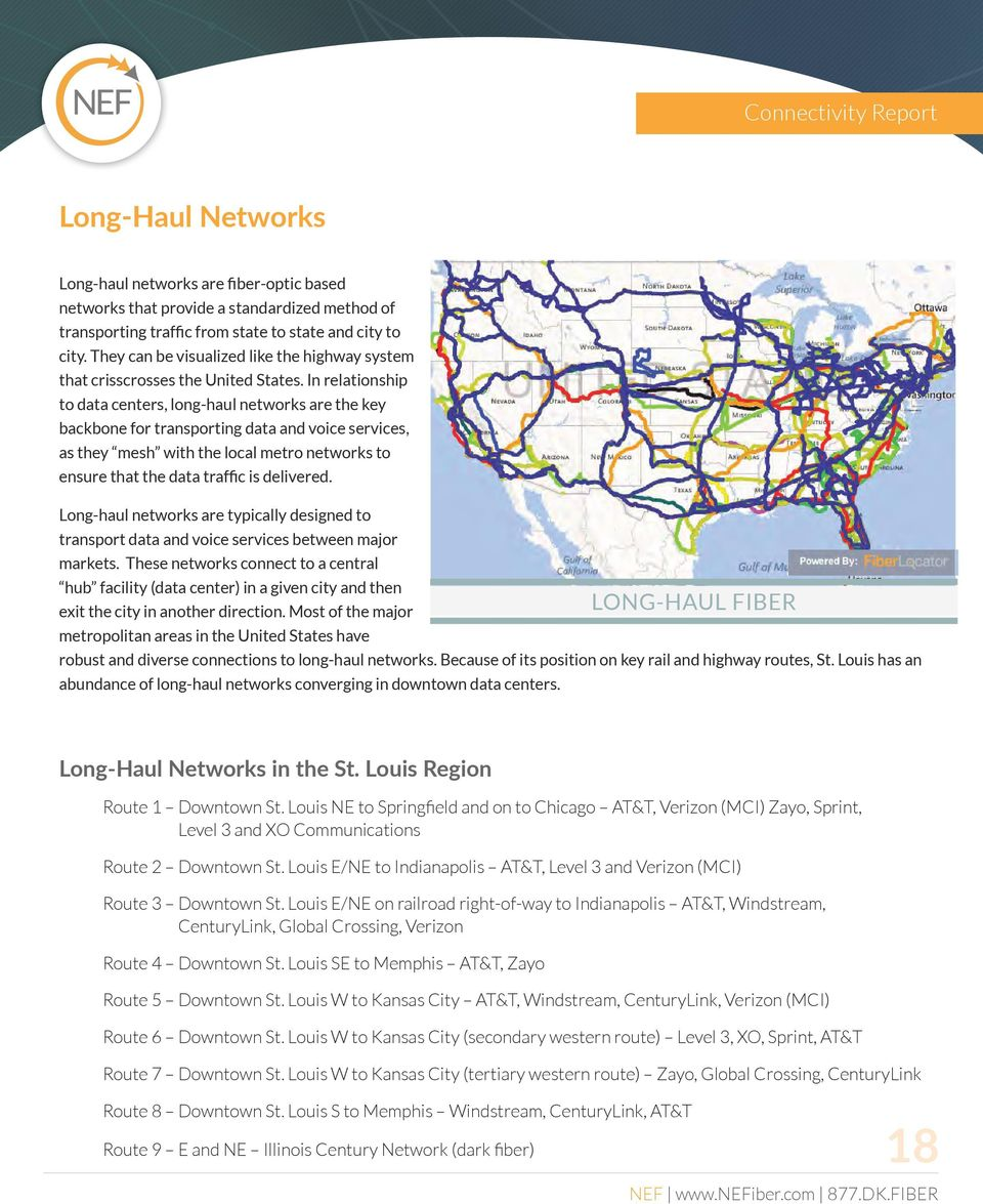 In relationship to data centers, long-haul networks are the key backbone for transporting data and voice services, as they mesh with the local metro networks to ensure that the data traffic is