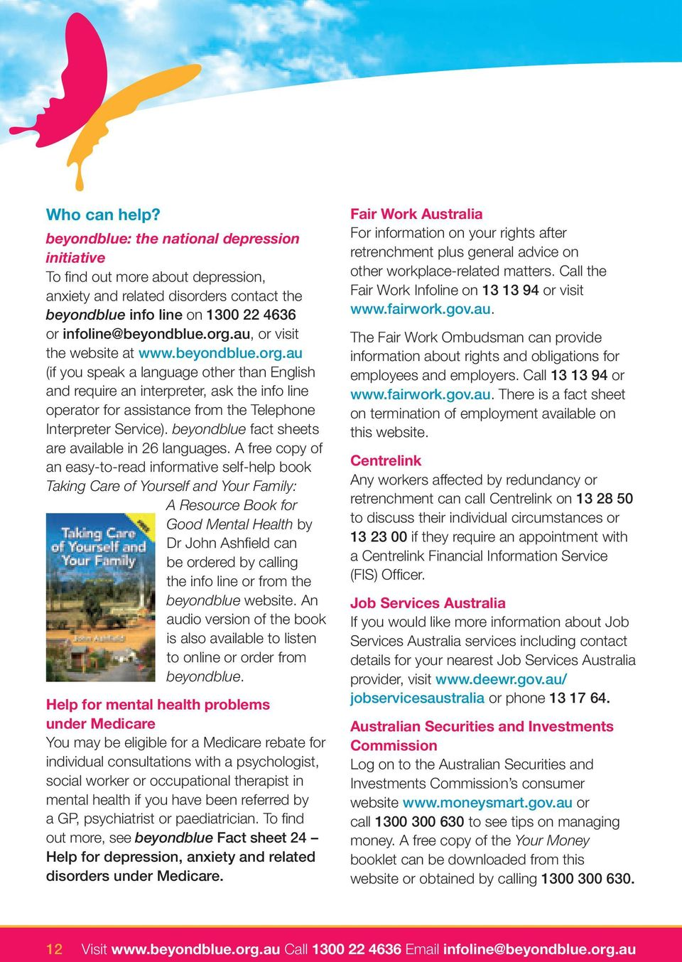 beyondblue fact sheets are available in 26 languages.