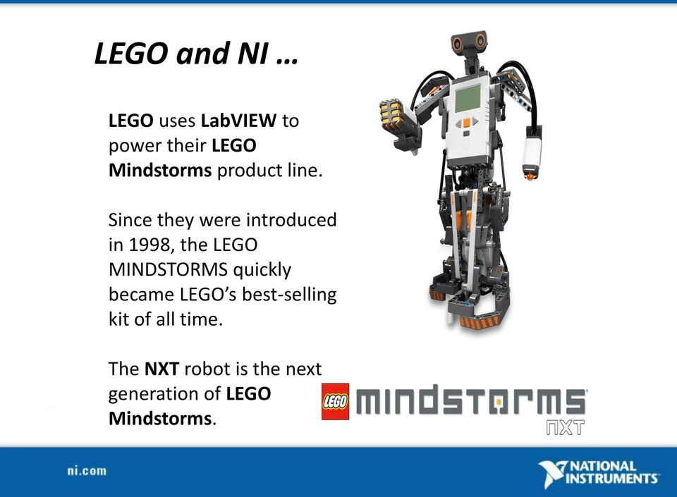 Since they were introduced in 1998, the LEGO MINDSTORMS