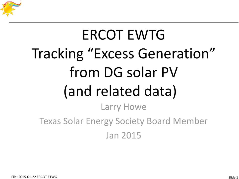 Texas Solar Energy Society Board Member