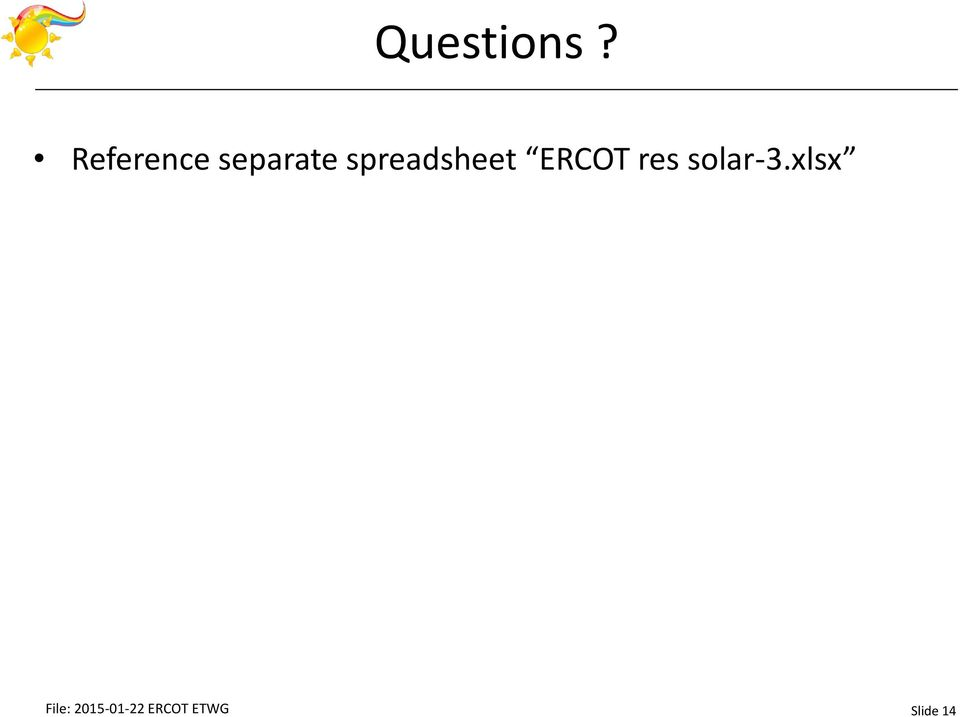 spreadsheet ERCOT res
