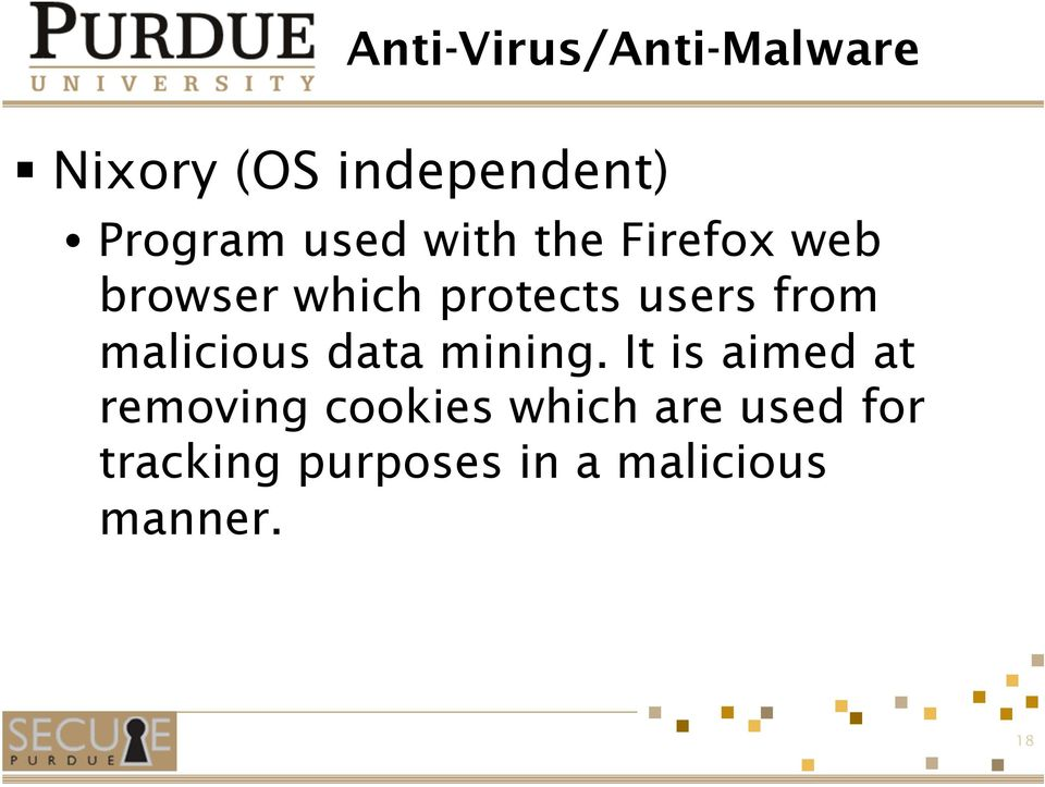 from malicious data mining.