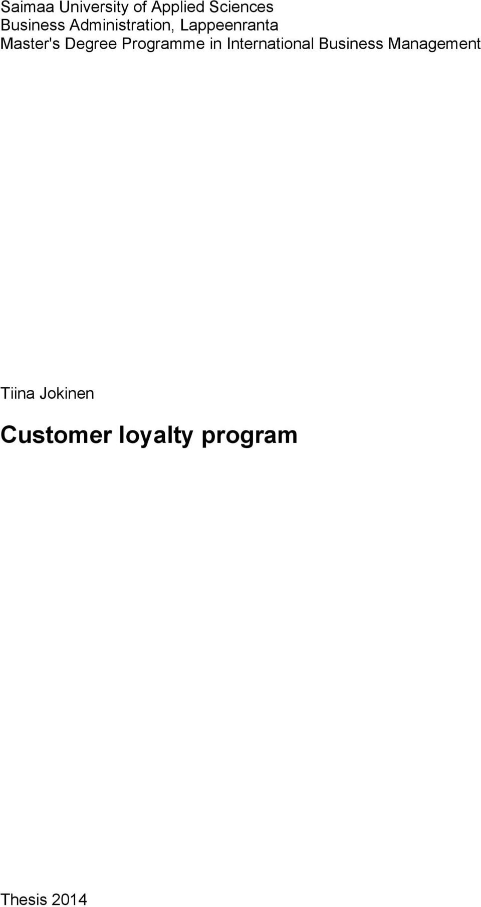 thesis on loyalty programs On assignment address thesis on customer loyalty program a m commerce library dissertation research papers for business.